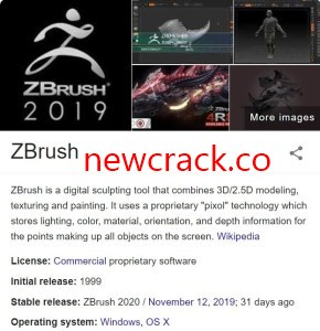 Pixologic ZBrush 1.2 Crack With License Key 2021 Full Download