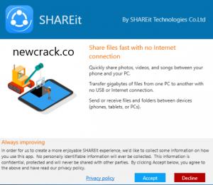 Download SHareit 5.7.72 Crack With License Key 2021 Free Download